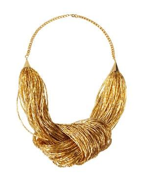 nOir Multi-Strand Beaded Necklace
