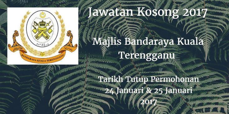 Majlis Bandaraya Kuala Terengganu Jawatan Kosong MBKT 24 & 25 Januari 2017  Majlis Bandaraya Kuala Terengganu (MBKT) mencari calon-calon yang sesuai untuk mengisi kekosongan jawatan Majlis Bandaraya Kuala Terengganu (MBKT) terkini 2017.  Jawatan Kosong MBKT 24 & 25 Januari 2017  Warganegara Malaysia yang berminat bekerja di Majlis Bandaraya Kuala Terengganu (MBKT) dan berkelayakan dipelawa untuk memohon sekarang juga. TEMUDUGA TERBUKA 1. PEMBANTU KHIDMAT PELANGGAN Tarikh / Hari     : 25…