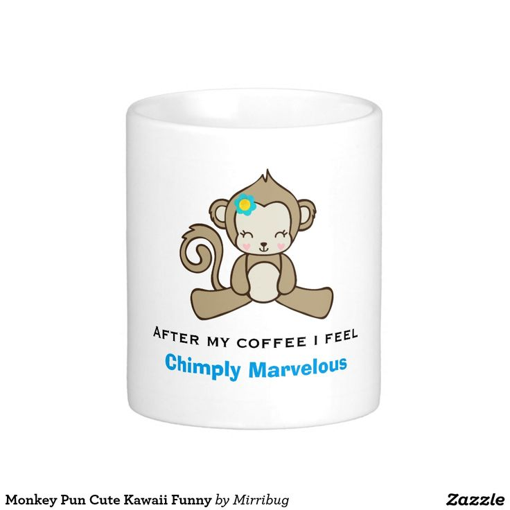 Monkey Pun Cute Kawaii Funny