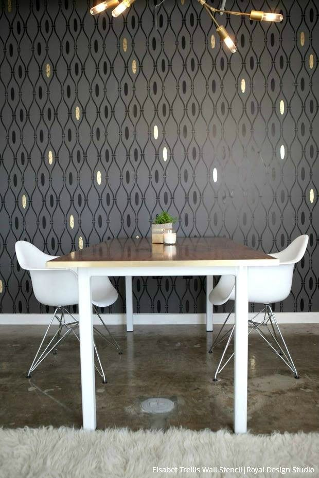 198 Best Modern Wall Stencils Images On Pinterest   Wall Stenciling, Royal  Design And Design Studios