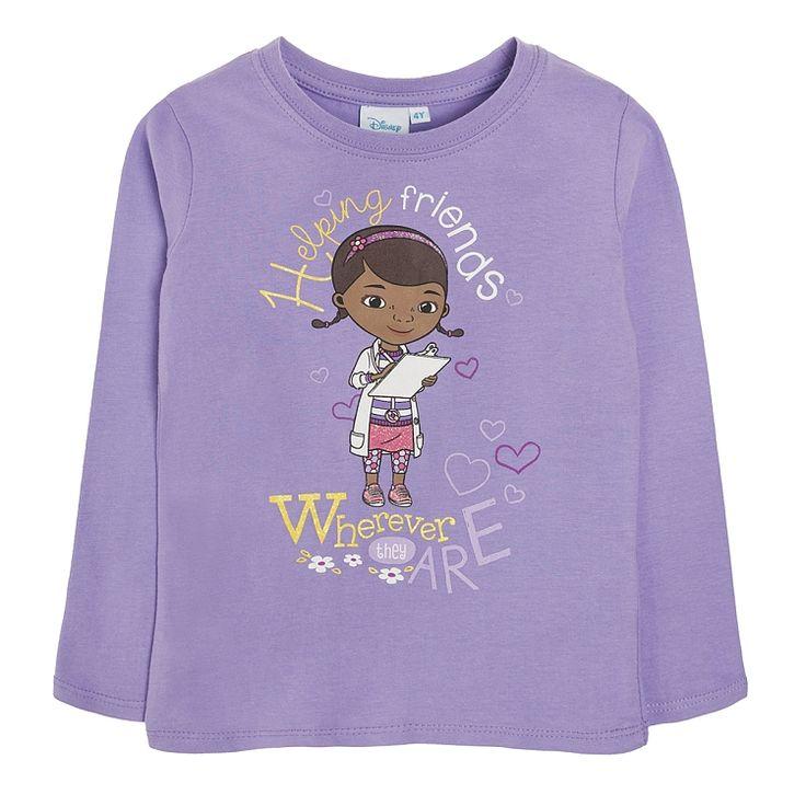 T-shirt dziewczęcy z długim rękawem, Klinika dla pluszaków