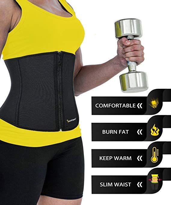 a8be867a6b Women Weight Loss Waist Trimmer Trainer Belt Sauna Neoprene Workout Corset  Body Shaper Tummy Ab Cincher Shapewear   Sports   Outdoors