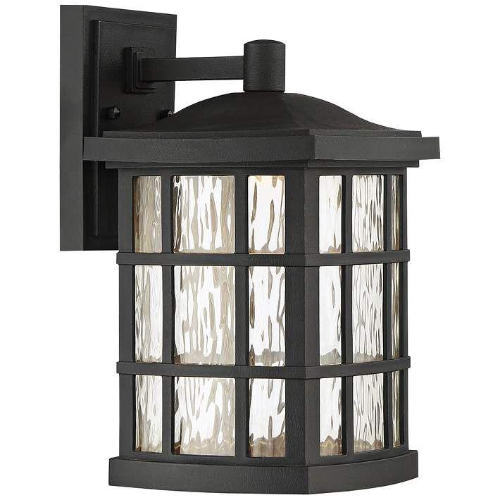 Stonington 13″ High Mystic Black LED Outdoor Wall Light – #1P506   Lamps Plus