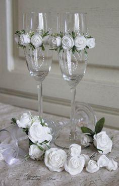 Taças decoradas para um brinde original! - Acesse…