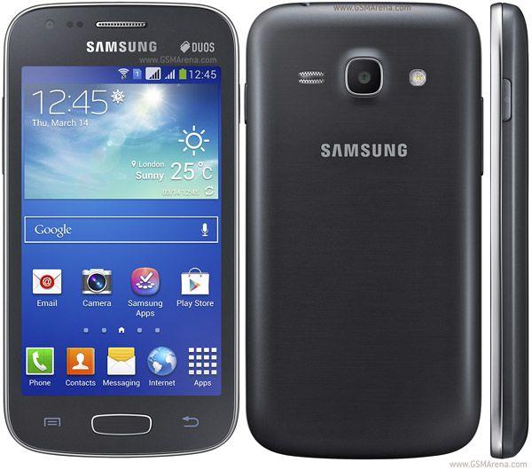 RED: 2G GSM 850/900/1800/1900 3GHSDPA 900/2100 - GT-S7270, GT-S7272 HSDPA 850/900/2100 - GT-S7275. SIM: DUAL SIM  Memoria: ranura para micro SD hasta 64 GB Interno: 4 GB (3G) / 8 GB (LTE), 1 GB de RAM.         Wi-Fi: 802.11 b / g / n, Wi-Fi Direct, Wi-Fi hotspot. USB: micro USB v2.0 Cámara: 5 MP, 2592 х 1944 pixels, autofocus, flash LED. OS: Android OS, v4.2 (Jelly Bean). Doble núcleo a 1 GHz Cortex-A9 (3G) / Dual-Core de 1,2 GHz Krait (LTE).