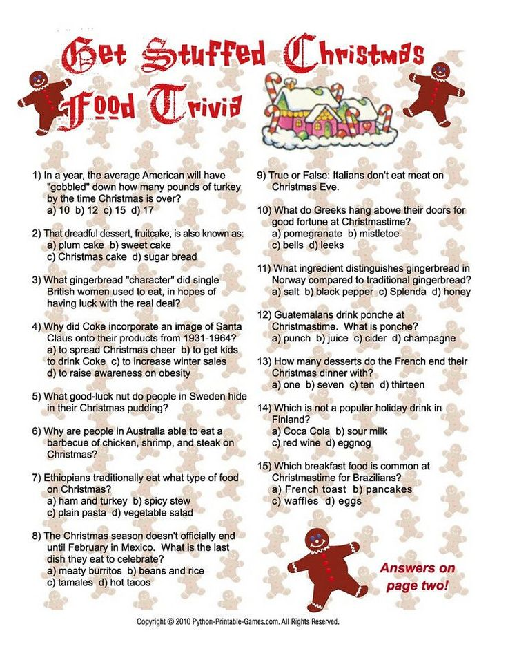 free christmas games for adults to print | Python Printable Games
