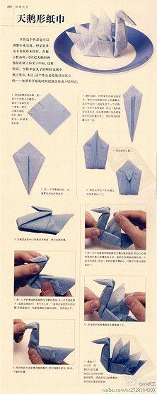 Tutorial für Origami-Schwan
