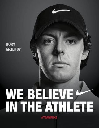 Rory McIlroy's new Nike bag of golf clubs n new contract wit Nike 150million over 10 yrs