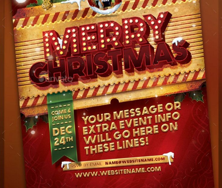 Best  Christmas Flyer Template Psd Vector Eps And Indesign