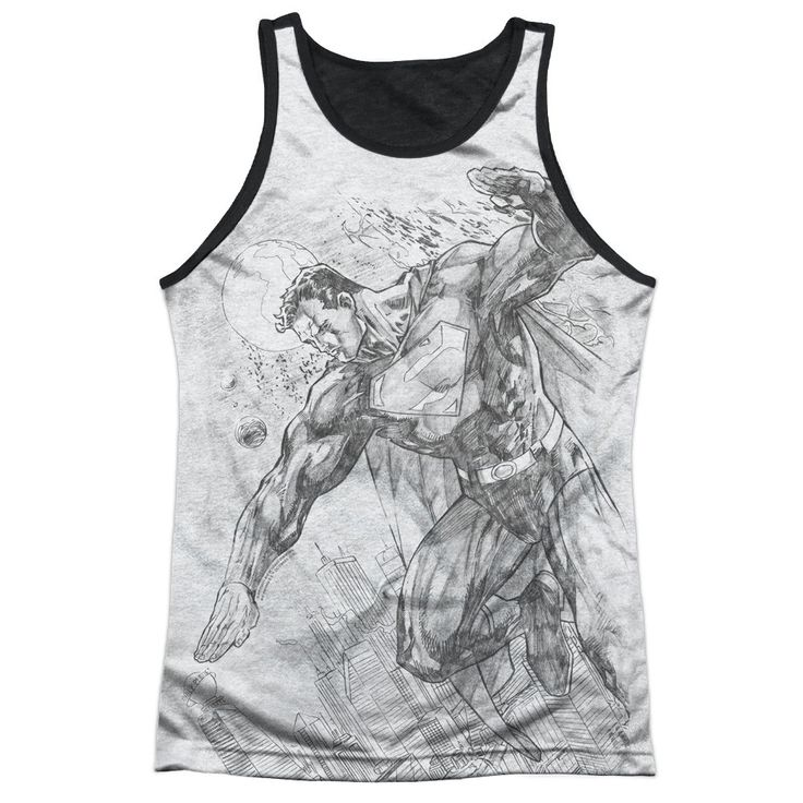"""Checkout our #LicensedGear products FREE SHIPPING + 10% OFF Coupon Code """"Official"""" Superman/pencil City To Space-adult Poly Tank Top T- Shirt - Superman/pencil City To Space-adult Poly Tank Top T- Shirt - Price: $24.99. Buy now at https://officiallylicensedgear.com/superman-pencil-city-to-space-adult-poly-tank-top-shirt-licensed"""