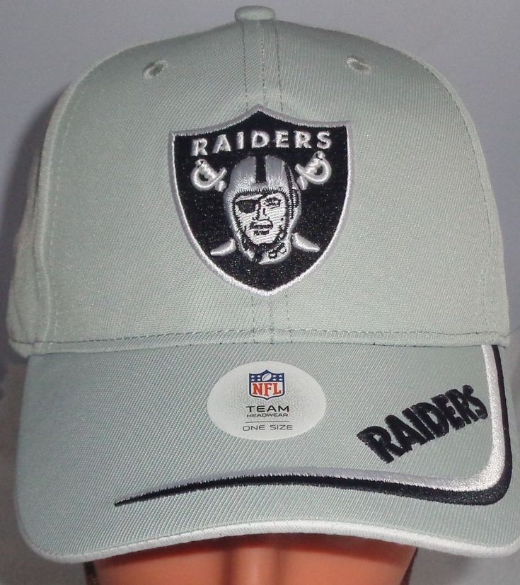 New Oakland Raiders NFL official licensed Hat Gray one size adjusable #OaklandRaiders