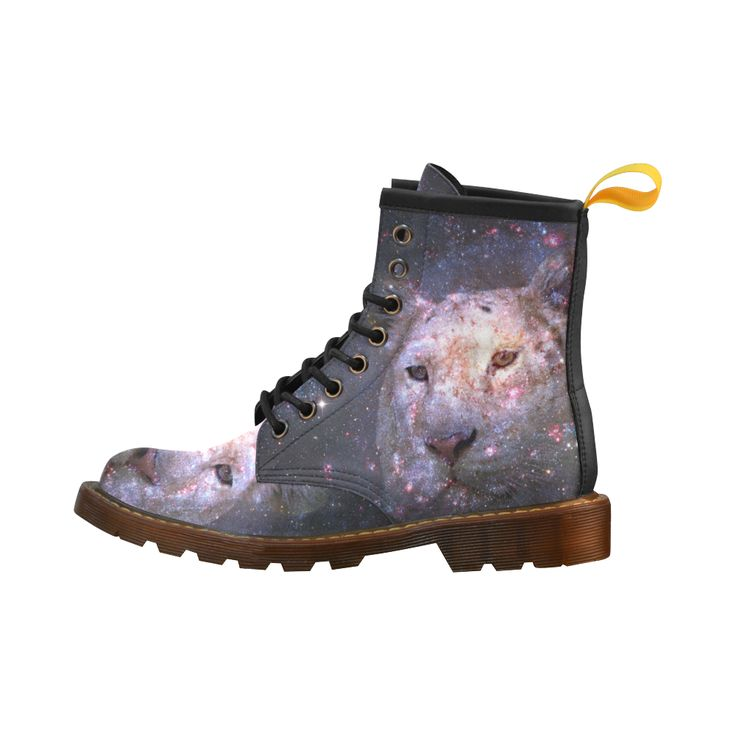 Tiger and Galaxy Leather Martin Boots For Men #erikakaisersot #artsadd #boots