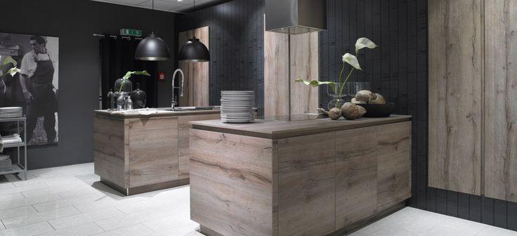 Schröder Küchen | Küche Ohne Griffe | Porto Woodline GLX, Eiche Pastis |  Küchen * Kitchen * Cuisine | Pinterest | Industrial And Kitchens