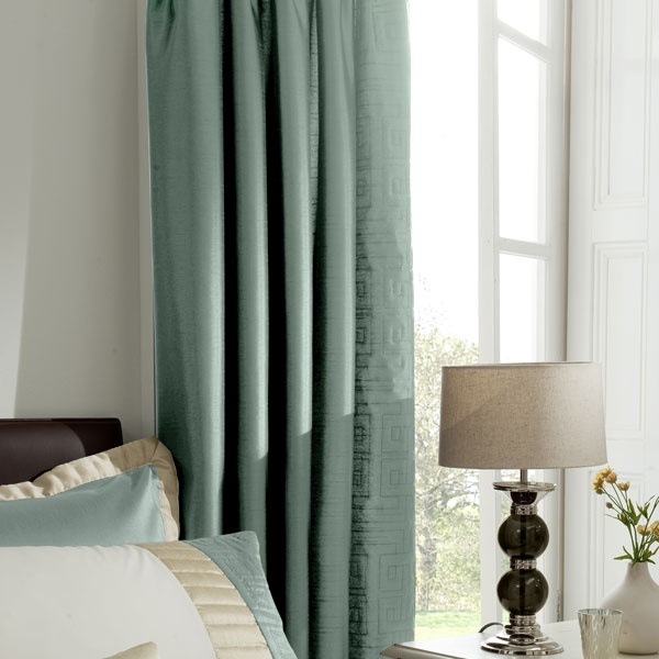 Image forTeal Athens Collection Curtains. Dunelm Mill