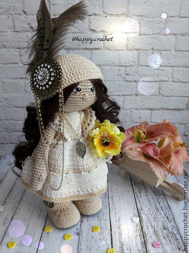 Купить В стиле винтаж) - бежевый, винтаж, куколка, куколка в подарок, куколка на счастье