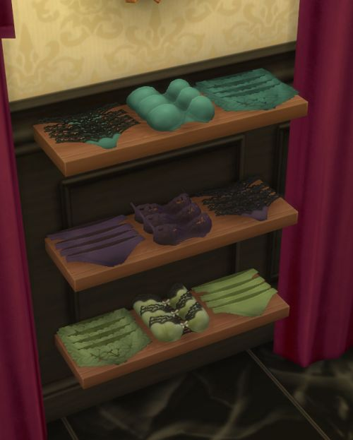 Deco UnderwearI made these specifically for part of my clothing store in Magnolia Promenade, Dauphine's Closet. You can find these in Clutter and they come in 40+ colors including my color palette and EA's original colors. These are great to sell or use as decoration around the bedroom or walk in closet. I will have the matching recolors for the wearable undies coming next!Download: SimsFileShare | OnedriveTOU:Don't claim as your own.If you recolor then link back to my original.Ask…
