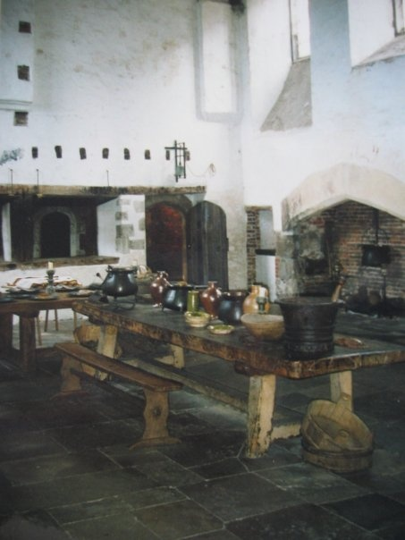 The Tudor kitchen at Hampton Court Palace, set up as if it was 1542. To follow the trials and tribulations of Hampton Court's resident cook, follow @tudorcook on Twitter.