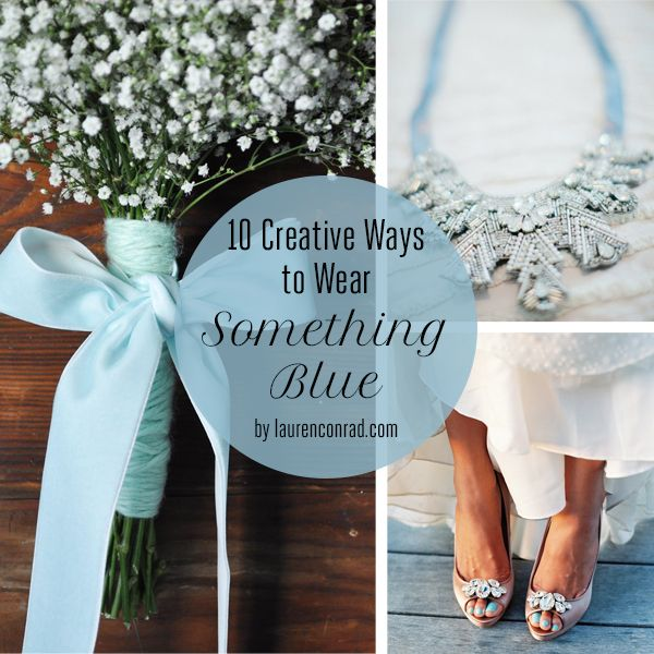 10 Creative Ways to Wear Something Blue on Your Wedding Day {love each and every one of these}