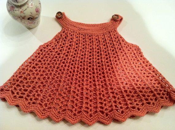 Free Crochet Girls Dress Pattern | Baby Girl Dress or Top Swing Style, Watermelon Colors, Crochet Pattern ...