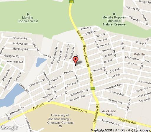 Map 22 On ayr in Melville(JHB) Northcliff/Rosebank Johannesburg Gauteng South Africa