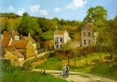 Pissarro   The Hermitage at Pontoise  1867  Oil on canvas  Solomon R. Guggenheim Museum (New York, New York, United States)