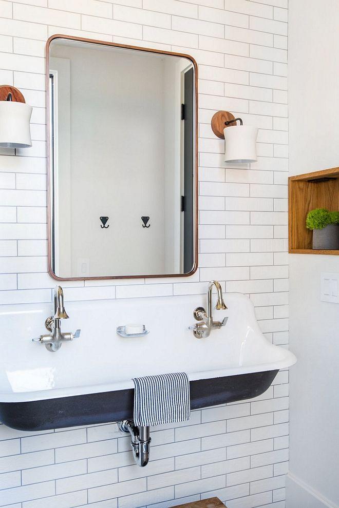 Kohler K 3202 0 White Brockway 4ft Wash Sink With Drillings For Two Faucets Kids Bathroom Sink Best Sink For Kids Bathroom Bathroom Design Sink Bathroom Sink