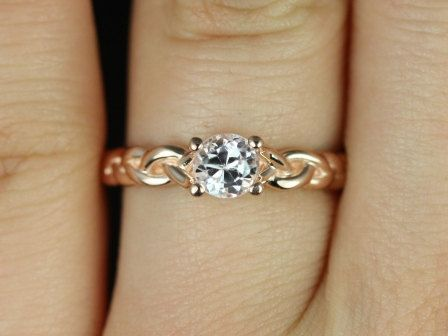 Prudence 14kt Rose Gold Round Kunzite Braided Engagement Ring (Other metals and stone options available)