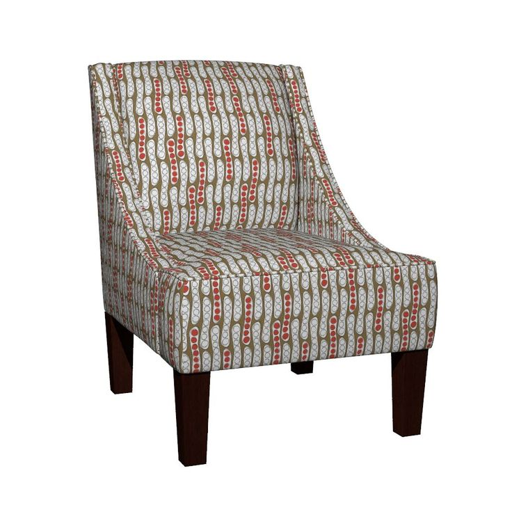 Venda Sloped Arm Chair featuring Large Seed Pods canopy red by colour_angel   Roostery Home Decor