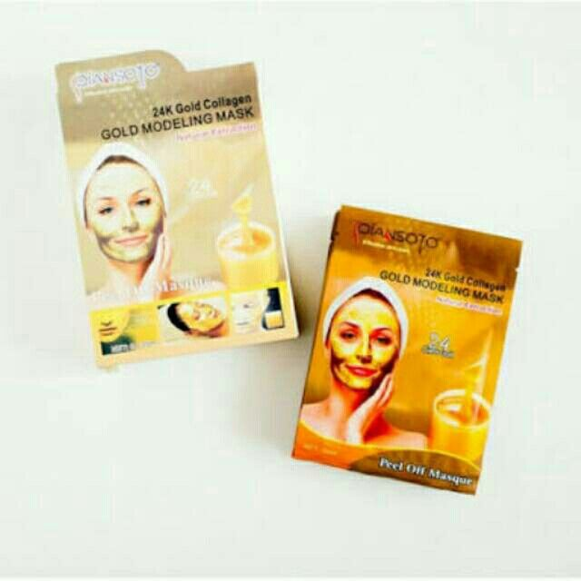 Saya menjual Qiansoto Gold Modeling Mask Powder / masker emas 24 K qiansoto bpom seharga Rp85.000. Ayo beli di Shopee! https://shopee.co.id//62887462/