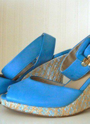 Kaufe meinen Artikel bei #Kleiderkreisel http://www.kleiderkreisel.de/damenschuhe/wedges/144468023-tamaris-keilabsatz-sandalette-sandale-wedge-plateau-riemen-turkis-40-neu