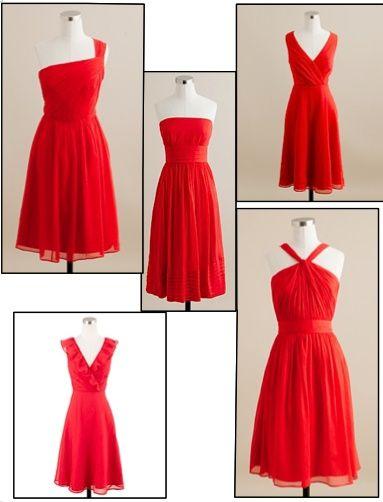 poppy bridesmaid dresses | bridesmaids j.crew poppy red