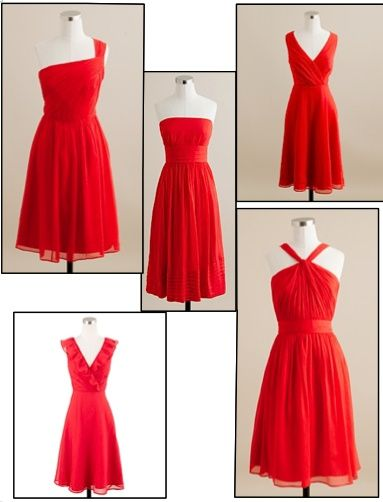 poppy bridesmaid dresses | bridesmaids j.crew poppy red