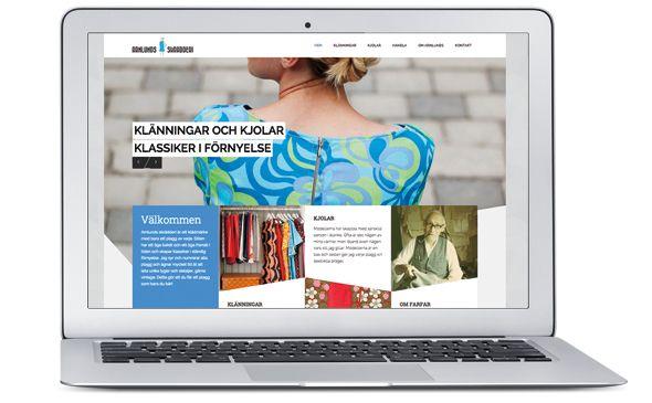 Arnlunds skrädderi webpage.