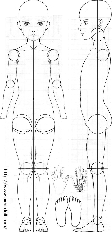球体関節人形の設計図