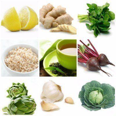 10 ДЕТОКС ПРОДУКТОВ,   КОТОРЫЕ НУЖНО ЕСТЬ КАК МОЖНО ЧАЩЕ.    1. Лимон.  Лимоны входят во все детокс-диеты.   Постарайтесь просто почаще пить теплую воду с лимоном до еды. Это поможет организму очищаться.    2. Имбирь.  Корень имбиря укрепляет иммунитет и содержит антиоксиданты. Сейчас бежевые корешки имбиря продаются в овощных отделах практических всех супермаркетов. Отрежьте маленький кусочек корешка и добавьте его в соковыжималку вместе с традиционными овощами. Это сделает напиток еще…