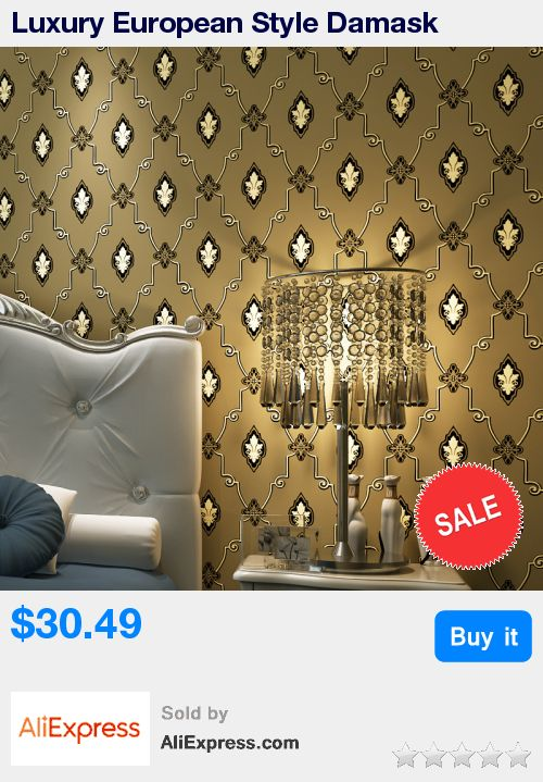 Luxury European Style Damask Non-woven Wallpaper Roll 3D Embossed Wall Paper For Living Room TV Background Wall Covering Paper * Pub Date: 23:40 Jul 10 2017