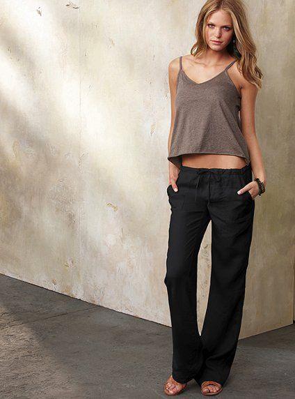 The Beach Pant in Linen - Victoria's Secret: Outfits, Color, Beach Pants, Beaches Pants, Linens Pants, Victoria Secret, Closet, Wear, The Beaches