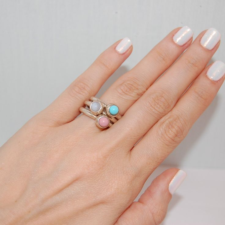 Stacking rings, Boho rings, Sterling silver ring, Gift for her, Sterling silver…