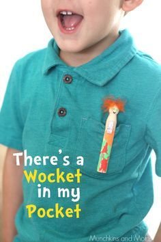 There's a Wocket in my Pocket Craft- perfect to go along with Dr. Seuss' birthday and Read Across America Day!