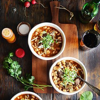 It's Pozole season! The #recipe for this Red Beef Pozole is #ontheblog