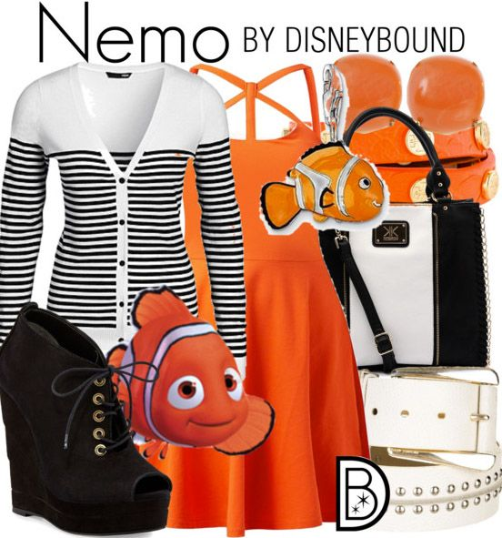 You won't be hard to find in this outfit inspired by Nemo. | Disney Fashion | DisneyFashion Outfits | Disney Outfits | Disney Outfits Ideas | Disneybound Outfits |