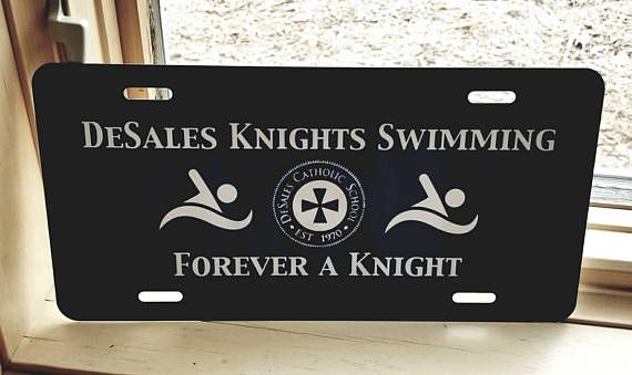 Check out this item in my Etsy shop https://www.etsy.com/listing/574170915/custom-license-plate-cover-swim-gift