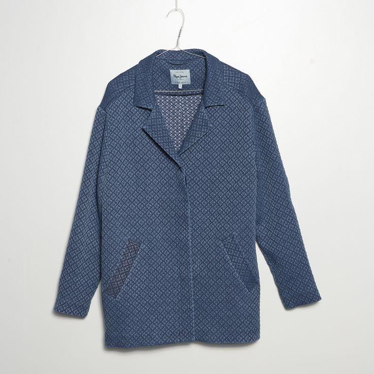 #jeansstore #fallwinter14 #fall #winter #autumn #autumnwinter14 #onlinestore #online #store #shopnow #shop #fashion #womencollection #women #jacket #pepejeans #coat #evie #indigo #loosefit #longsleeve