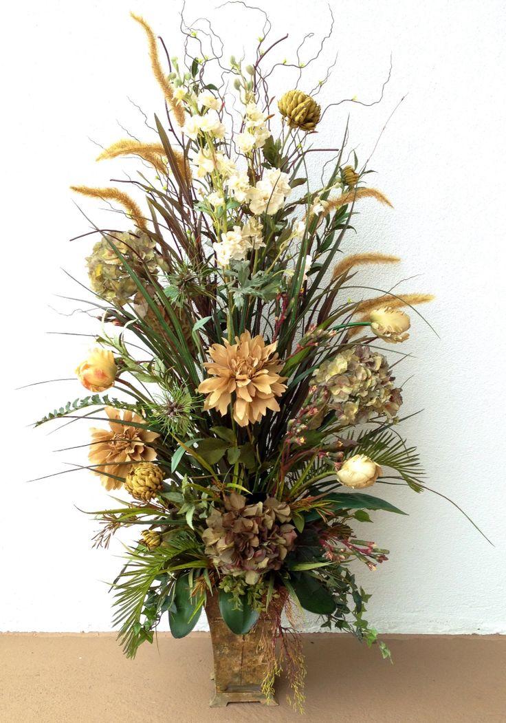 7 best Office flowers images on Pinterest Silk flowers, Flower - silk arrangements for home decor