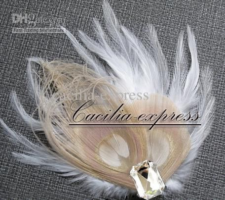 Cheap Fascinator Wedding - Best Gorgeous Champagne Amp White Peacock Feather Bridal Fascinator Online with $11.52/Piece | DHgate