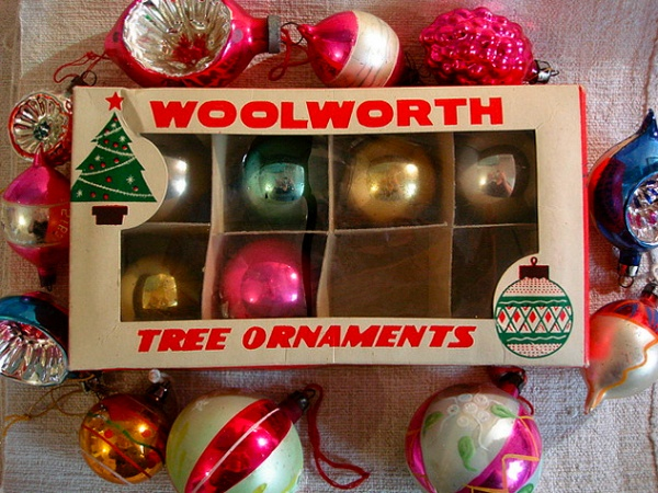 Vintage Christmas Ornaments - from Woolworth - we had ALL of these!