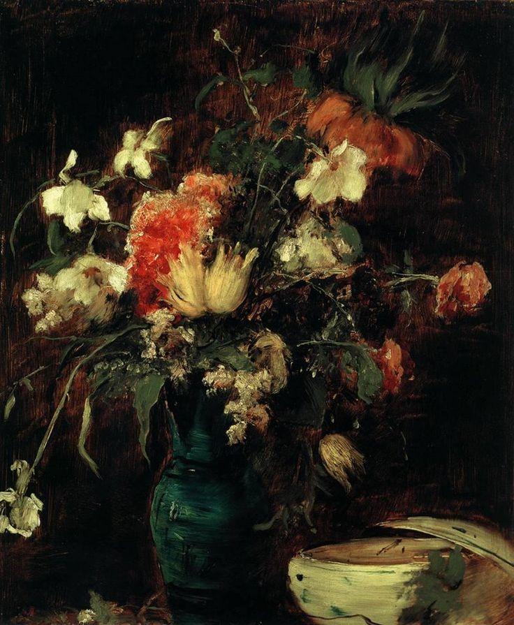 MUNKÁCSY, Mihály Hungarian painter (b. 1844, Munkács, d. 1900, Endenich) Flowers
