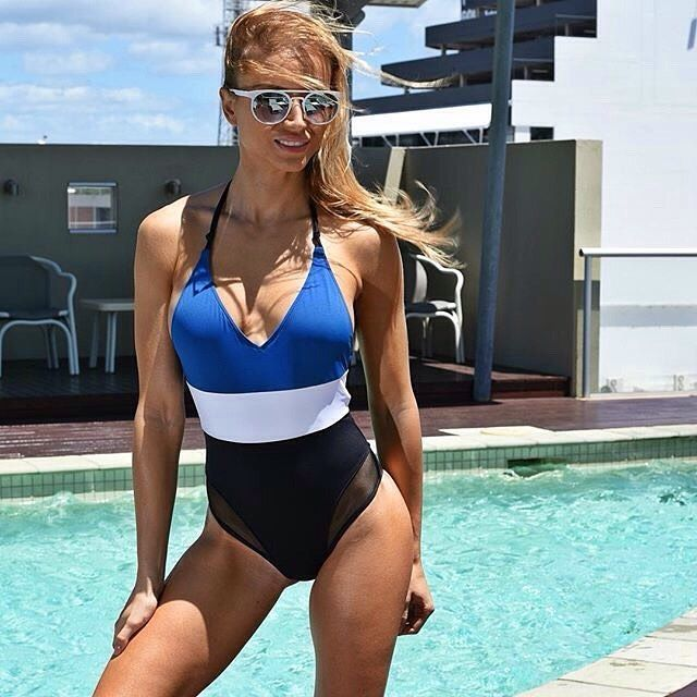 Our beautiful @sofiahills, definitely lives her life in style wearing: @tavikswimwear swimsuit & @xrayaustralia sunnies