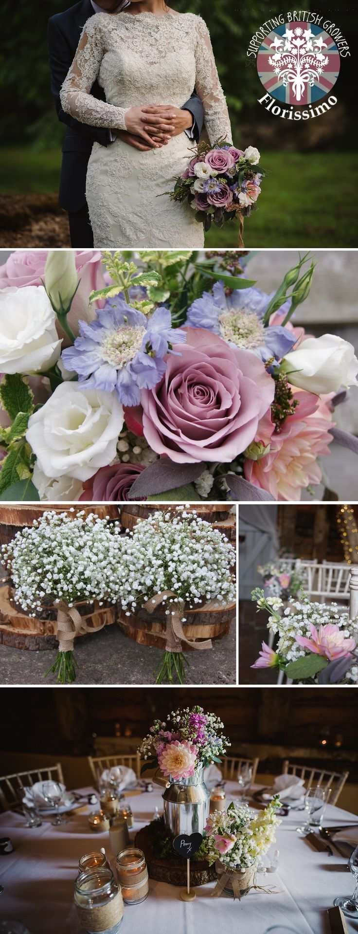 Florissimo, Shropshire  - Flowers for weddings, events and businesses | British-grown seasonal flowers are perfect for eco-weddings! British-grown dahlia generally avail Jul-Oct; lisianthus, May-Sept; scabious, Jun-Oct; eryngium thistle Jun-Aug; phlox, Jul-Sept; stock, May-Oct. These were for a wedding at Pimhill Barn, Shropshire. Some of these images are courtesy of Amy Taylor.
