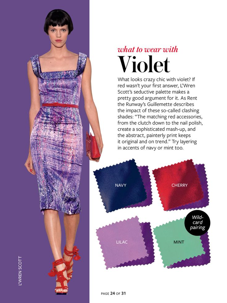 InStyle Color Crash Course-Violet purple, cherry red, navy blue, lilac, mint green